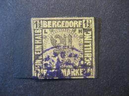 Altdeutschland Bergedorf 1861/67- Freimarken Wappen Mi.Nr. 3 Mit Falz - Bergedorf
