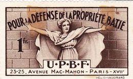 Vignette U.P.B.F. Pour La Défense De La Propriété Bâtie 1F Par Helio Vaugirard - Autres