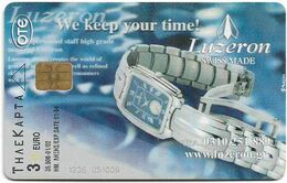 Greece - Luzeron Watches & Calendar 2002 - X1394 - 01.2002 - 35.000ex, Used - Greece