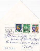 21267# REUNION SURCHARGE CFA LETTRE PAR AVION Obl SAINT DENIS 1965 Pour VICHY ALLIER - Reunion Island (1852-1975)