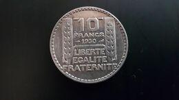 PIECE DE 10F ARGENT TURIN 1930 - K. 10 Franchi