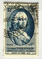 YT 940 (°) Obl Journée Du Timbre 1953 Comte D'Argenson (côte 4 Euros) – Bleu2 - Used Stamps