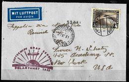 808 - GERMANY - 1931 - ZEPPELIN POST - POLAR FLIGHT  - COVER TO USA  - FORGERY - FAUX - FAKE - FALSE - FALSCH - Non Classificati