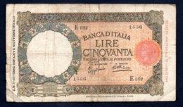 Banconota Banca D'Italia £ 50 Lupetta 17-10-1936 - 50 Lire