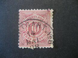 Altdeutschland Württemberg 1875- Freimarken Weisse Ziffern Im Kreis Mi.Nr. 46 Mit Falz - Wurtemberg