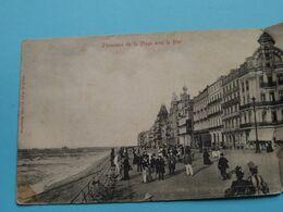PANORAMA De La PLAGE Avec Le PIEROSTENDE ( Losse Rug > Zie Detail Op Foto's / Ed. V. G. - 2996 ) Anno 1902 ! - Oostende