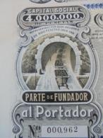 ESPAGNE - ZARAGOZA 1910 - COMPANIA ARAGONESA DE MINAS - PART DE FONDATEUR - Unclassified
