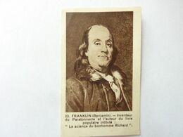 Publicité RAVIBA, Teinture - 23 - FRANKLIN Benjamin Inventeur Du Paratonnerre - Andere