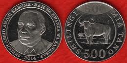 "Tanzania 500 Shillings 2014 ""Buffalo"" UNC - Tansania"
