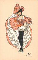 Danseuse De French Cancan Cabaret Paris - Signée AH Ed Artistiques Parisiens - Kabarett