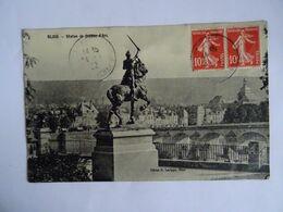 CPA  41  BLOIS Statue De Jeanne-d' Arc  1922  TBE - Blois