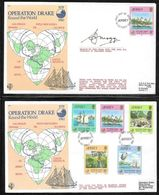 Jersey - 1980 Operation Drake Airship & Ferry Carried Covers (2) - One Signed - Jersey