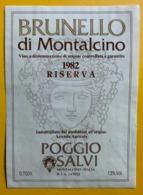 15599 - Brunello Di Montalcino 1982 Poggio Salvi - Other