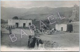 Debdou (Maroc) - La Place Du Village Un Jour De Marché (Circulé En 1913) (2) - Otros