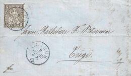 Lokales Brieflein  Glarus - Engi            1863 - Brieven En Documenten