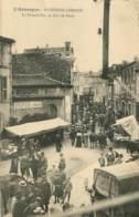 SAINT GERMAIN LEMBRON LA GRANDE RUE UN JOUR DE FOIRE - Saint Germain Lembron