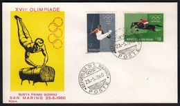 San Marino 1960 / Olympic Games Rome 1960 / Gymnastics - Rings, Equestrian, Horse - Sommer 1960: Rom