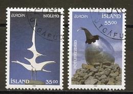 Islande - Island - Iceland 1993 Y&T N°739 à 740 - Michel N°786 à 787 (o) - EUROPA - Usati