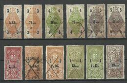 RUSSLAND RUSSIA Ca 1895 Revenue Adress Tax Steuermarken Residence Permission O - Steuermarken