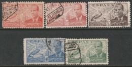 Spain 1941 Sc C109-10,C112-4  Air Post Partial Set Used - Used