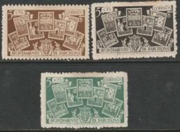 Spain Barcelona 1944 Ed 69-71 Set MH Toning Spots - Barcelona
