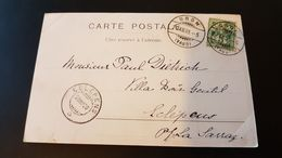 Chateau D'Oron - Sent To Eclepens 1900 - Usados