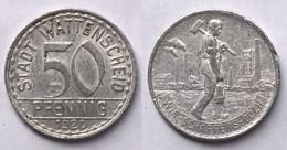 50 Pfennig Notgeld Münze Wattenscheid Bergbau 1920 Alu   (21947 - [ 2] 1871-1918: Deutsches Kaiserreich