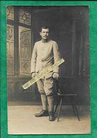 """Carte-photo """"un De Mes Blessés Du Panthéon"""" 91e Régiment D'Infanterie (Hôpital Temporaire 18 Rue Lhomond Paris 5e) - Oorlog 1914-18"""