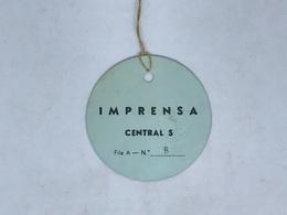 Cx13 E B) FOOTBALL Ticket Stub Press Card PORTUGAL B - FRANCE B 04.06.1967 Diam. 6,5cm - Zonder Classificatie