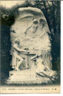 75008 PARIS - Le Parc Monceau - Statue De Chopin - District 08