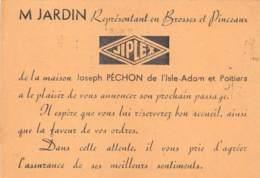 VAL D'OISE  95  L'ISLE ADAM ( ET POITIERS ) - AVIS DE PASSAGE DU REPRESENTANT EN PINCEAUX DE LA MAISON PECHON - L'Isle Adam