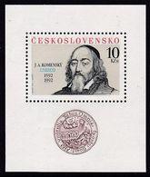 BLOC NEUF DE TCHECOSLOVAQUIE - 400E ANNIVERSAIRE DE LA NAISSANCE DE JAN AMOS KOMENSKI DIT COMENIUS N° Y&T 89 - Teologi