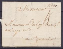 "L. Datée 6 Avril 1732 De MONS Pour ST-QUENTIN - Man. ""Mons"" - Port ""4"" - 1714-1794 (Oesterreichische Niederlande)"