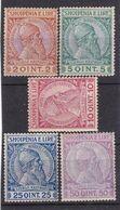 #Z.12402 Albania 1913 Incomplete Set MNH, MLH, Michel 29 - 33: Definitive, Prince Skanderbeg - Albania