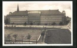 AK Münster I.W., Städtische Handels-Lehranstalten - Muenster