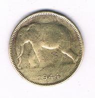 1 FRANC 1944 BELGISCH CONGO /6561/ - 1934-1945: Leopold III
