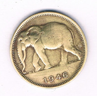 1 FRANC 1946 BELGISCH CONGO /6562/ - Congo (Belga) & Ruanda-Urundi