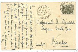 ALGERIE 40C CARTE TIMGAD FACTEUR RECEVEUR AL KANTARA 22.4.29 CONSTANTINE - Algeria (1924-1962)