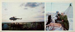 #23  Reindeer Husbandry In Komi Republic, Traditional Industry - Arctic RUSSIA - Big Size Postcard 1984 - Farmers