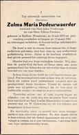 Halluin, Izegem: 1962, Zulma Dedeurwaerder, Verbrugge, Pardoen - Imágenes Religiosas