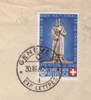 Lettre Aff 30c Les Rangiers Θ Genève 30.03.1940 -->Marburg -Zensur/Censored/Censure OKW E Sans Θ De Contrôle - Pro Patria