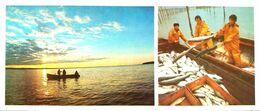 #23  Fishing In Pechora River, Komi Republic - Arctic RUSSIA - Big Size Postcard 1984 - Fishing