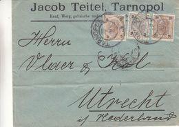 Autriche - Lettre De 1904 ? - Oblit Tarnopol - Exp Vers Utrecht - - Covers & Documents