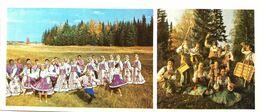 #24  Folklore Costumes And Dance Of Komi Republic - Arctic RUSSIA - Big Size Postcard 1984 - Costumes
