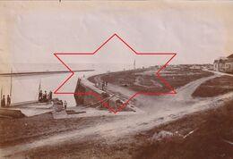 Photo Vers 1900 CARTERET - Le Port D'embarquement Pour Jersey (A223) - Carteret