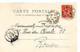 C17 1901  Carte Postale Paris/rouen - 1877-1920: Période Semi Moderne