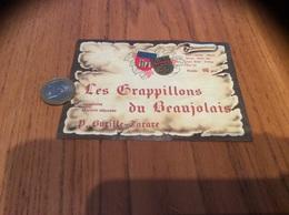 Etiquette Vin «Les Grappillons Du BEAUJOLAIS - P. Burille-Tarare» - Beaujolais