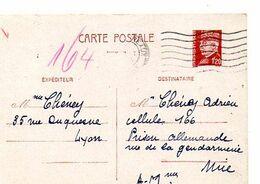 C17 1944 Interné A La Prison Allemande A NICE Pas Courant - Guerra Del 1939-45