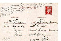 C17 1943 Interné A La Prison Allemande A NICE Pas Courant - Guerra Del 1939-45