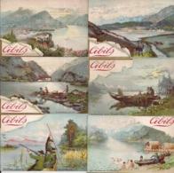 CHROMO CIBILS-3-1-7 SWISS AND SCANDINAVIAN SCENES ON LAKE-12 STUKS FRANS - Cromos